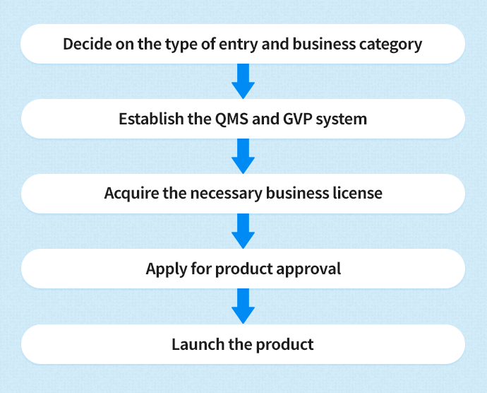 Workflow for entering the medical device market